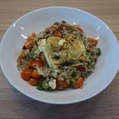 Mediterraner Graupen-Salat mit Ofen-Feta